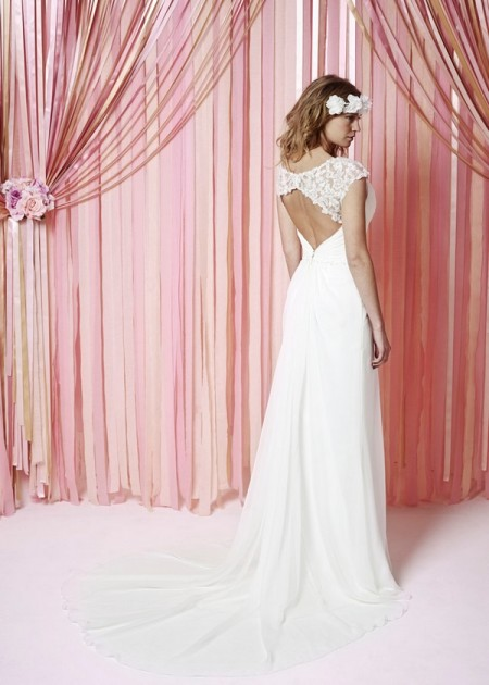 Back of Mabel Wedding Dress - Charlotte Balbier Iscoyd Park 2015 Bridal Collection
