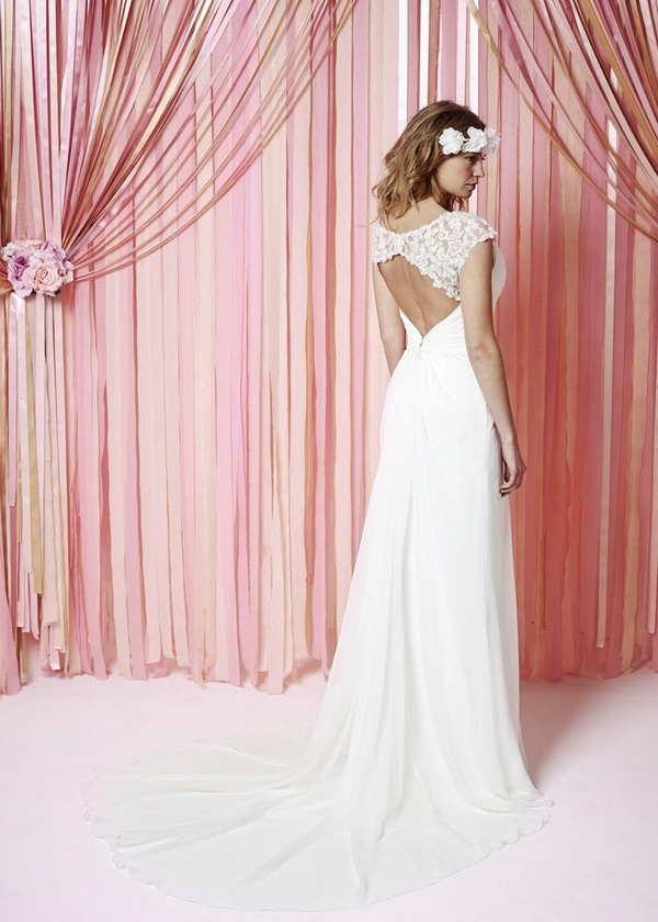 Back of Mabel Wedding Dress - Charlotte Balbier Iscoyd Park 2015 Bridal Collection