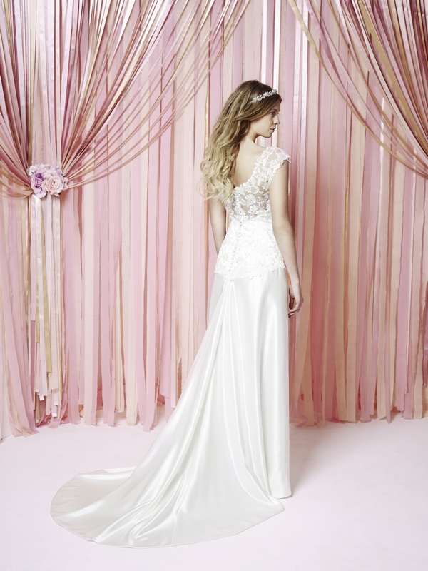 Back of Maisie Wedding Dress - Charlotte Balbier Iscoyd Park 2015 Bridal Collection