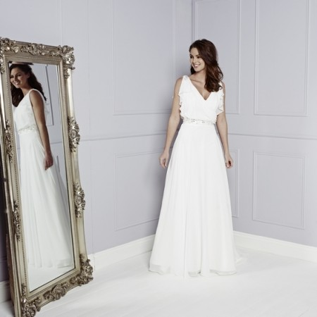 Malory Wedding Dress - Amanda Wyatt Blue Iris 2015 Bridal Collection