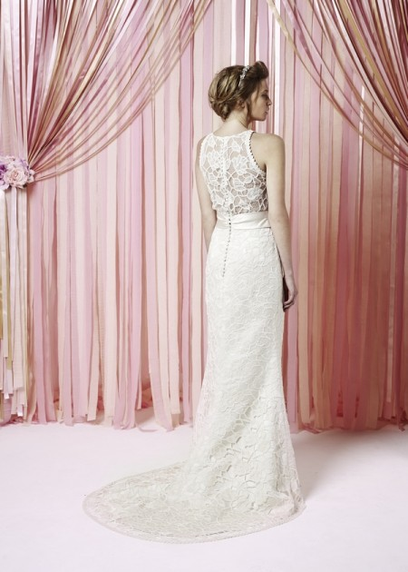 Back of Marnie Wedding Dress - Charlotte Balbier Iscoyd Park 2015 Bridal Collection