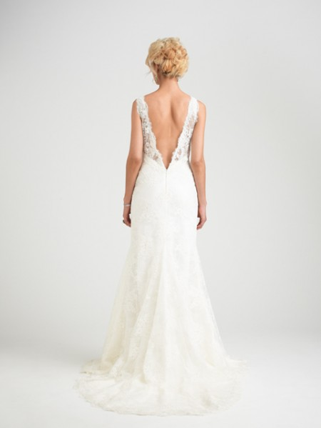 Back of Marseille Wedding Dress - Caroline Castigliano Opera 2015 Bridal Collection