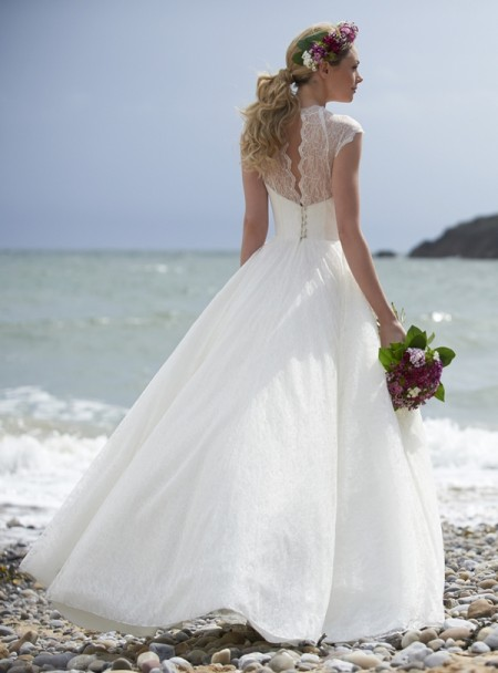 Back of Misty Wedding Dress - Stephanie Allin Always and Forever 2015 Bridal Collection