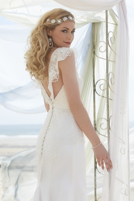 Back of Monique Wedding Dress - Stephanie Allin Always and Forever 2015 Bridal Collection