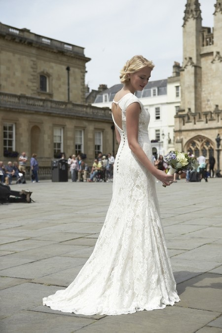 Back of Natalie Wedding Dress - So Sassi 2015 Bridal Collection