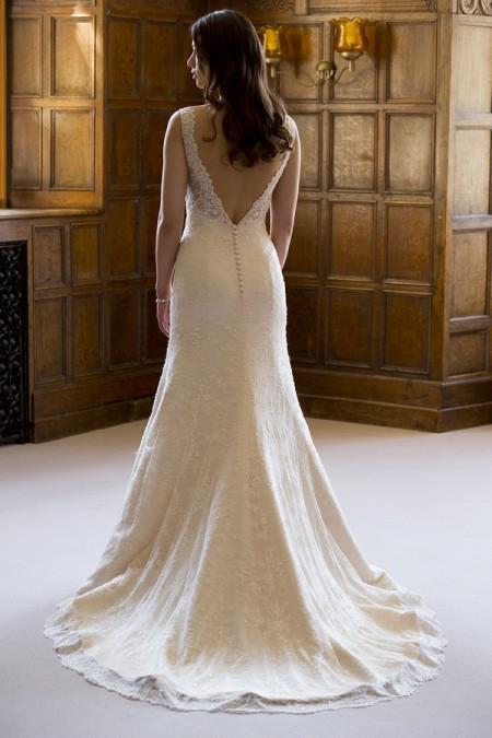 Back of Nicola Wedding Dress - Augusta Jones The Hallmark 2015 Bridal Collection