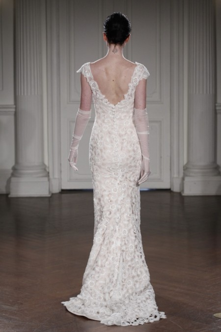 Back of Noelia Due Wedding Dress - Peter Langner 2015 Bridal Collection