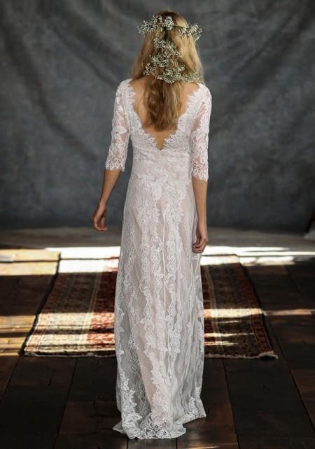 Back of Patchouli Wedding Dress - Claire Pettibone Romantique 2015 Bridal Collection
