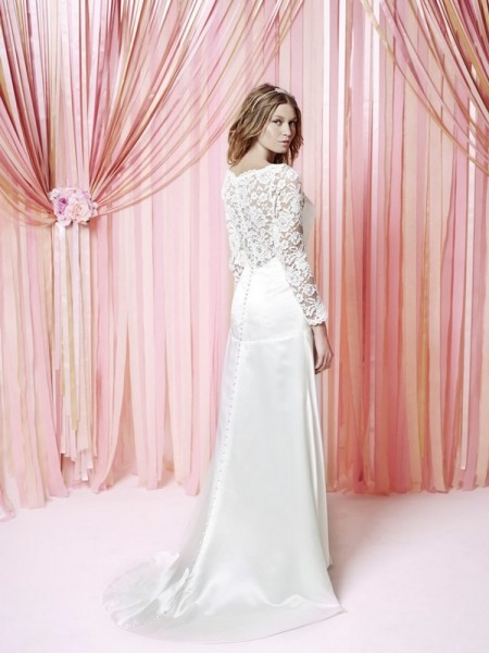 Back of Petal Wedding Dress - Charlotte Balbier Iscoyd Park 2015 Bridal Collection