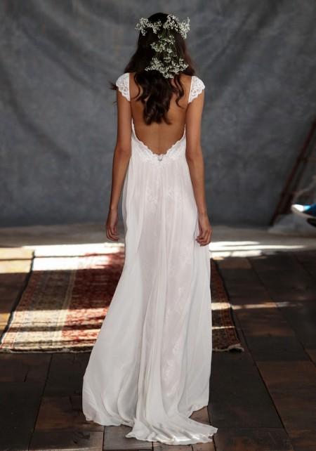 Back of Phaedra Wedding Dress - Claire Pettibone Romantique 2015 Bridal Collection