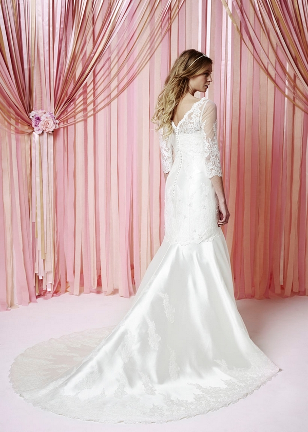 Back of Rebecca Wedding Dress - Charlotte Balbier Iscoyd Park 2015 Bridal Collection