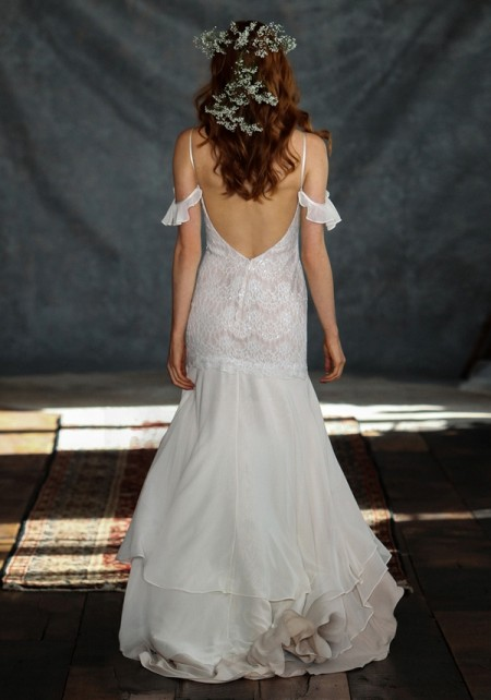 Back of Rhapsody Wedding Dress - Claire Pettibone Romantique 2015 Bridal Collection