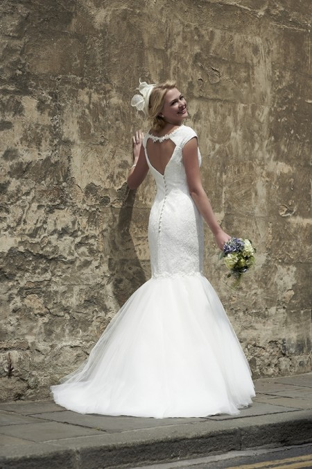 Back of Rhianna Wedding Dress - So Sassi 2015 Bridal Collection