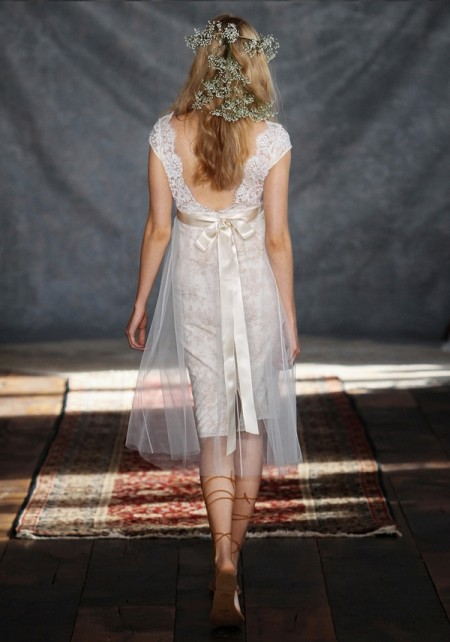 Back of Robyn Wedding Dress - Claire Pettibone Romantique 2015 Bridal Collection