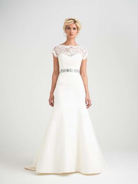 Romelli Wedding Dress with Rosalina Shrug - Caroline Castigliano Opera 2015 Bridal Collection