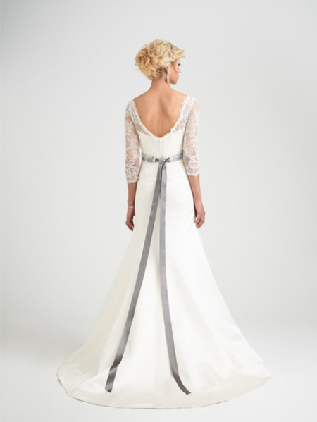 Back of Romelli Wedding Dress with Svetlana Shrug - Caroline Castigliano Opera 2015 Bridal Collection