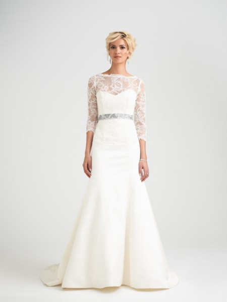 Romelli Wedding Dress with Svetlana Shrug - Caroline Castigliano Opera 2015 Bridal Collection