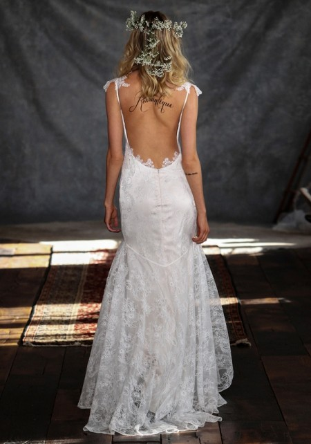 Back of Rosemary Wedding Dress - Claire Pettibone Romantique 2015 Bridal Collection