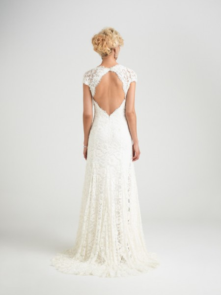 Back of Sardinia Wedding Dress - Caroline Castigliano Opera 2015 Bridal Collection