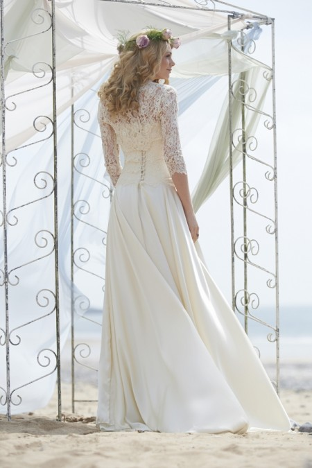 Back of Savannah Wedding Dress - Stephanie Allin Always and Forever 2015 Bridal Collection