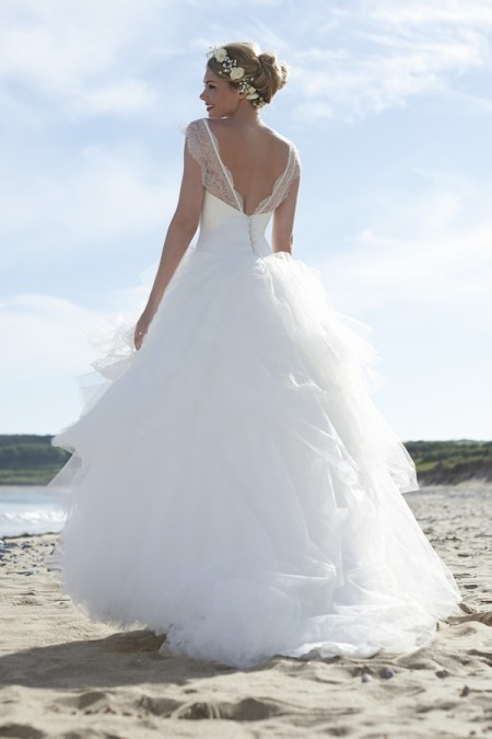 Back of Scarlett Wedding Dress - Stephanie Allin Always and Forever 2015 Bridal Collection
