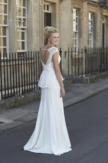 Back of Sian Wedding Dress - So Sassi 2015 Bridal Collection
