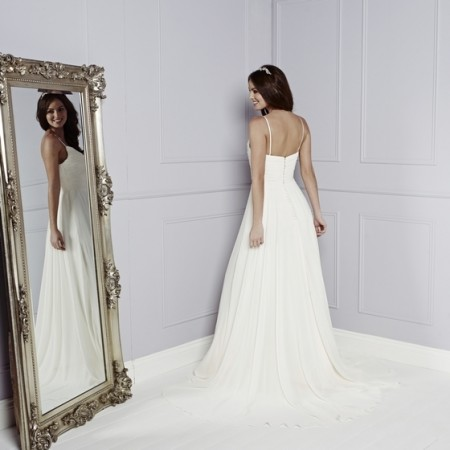 Back of Skylark Wedding Dress - Amanda Wyatt Blue Iris 2015 Bridal Collection