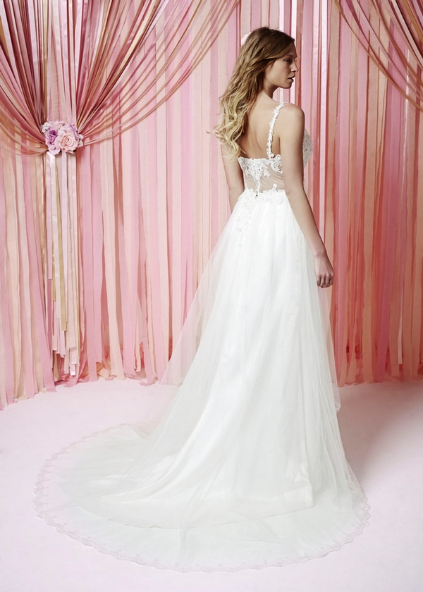 Back of Stella Wedding Dress - Charlotte Balbier Iscoyd Park 2015 Bridal Collection