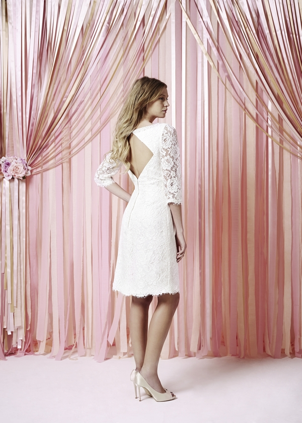 Back of Suzy Wedding Dress - Charlotte Balbier Iscoyd Park 2015 Bridal Collection