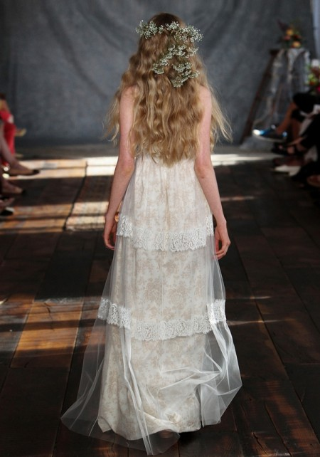 Back of Thyme Wedding Dress - Claire Pettibone Romantique 2015 Bridal Collection