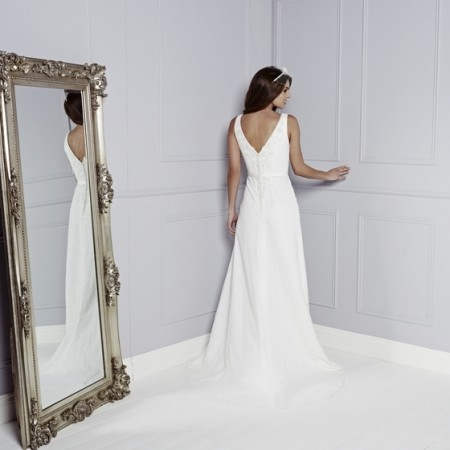 Back of Tia Wedding Dress - Amanda Wyatt Blue Iris 2015 Bridal Collection
