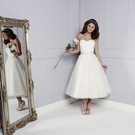 Trixie Wedding Dress in Blush - Amanda Wyatt Blue Iris 2015 Bridal Collection