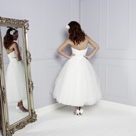 Back of Trixie Wedding Dress in Ivory - Amanda Wyatt Blue Iris 2015 Bridal Collection