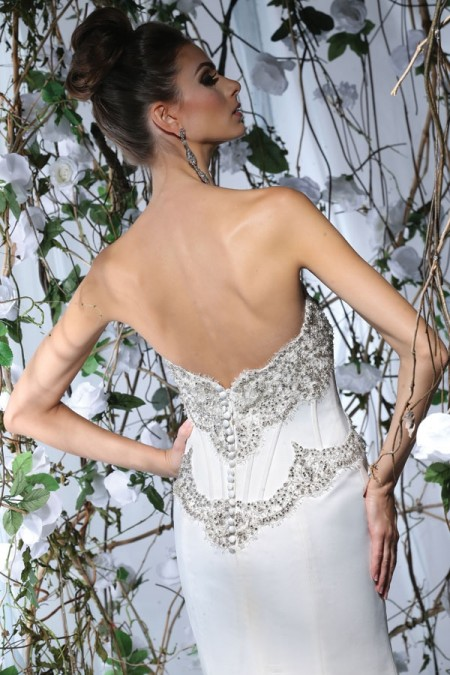 Back of VH170 Wedding Dress - Victor Harper Spring 2015 Bridal Collection