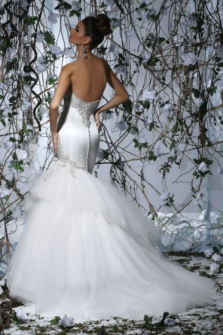 Back of VH171 Wedding Dress - Victor Harper Spring 2015 Bridal Collection