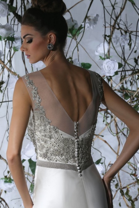 Back of VH172 Wedding Dress - Victor Harper Spring 2015 Bridal Collection
