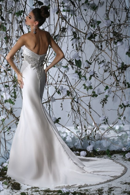 Back of VH173 Wedding Dress - Victor Harper Spring 2015 Bridal Collection