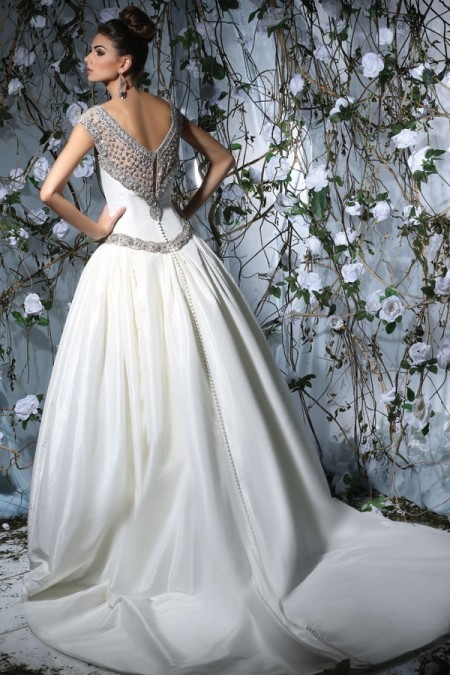 Back of VH176 Wedding Dress - Victor Harper Spring 2015 Bridal Collection