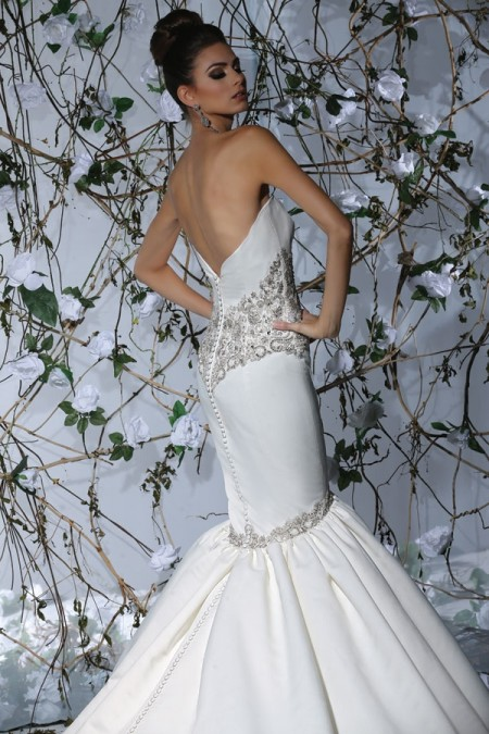 Back of VH178 Wedding Dress - Victor Harper Spring 2015 Bridal Collection