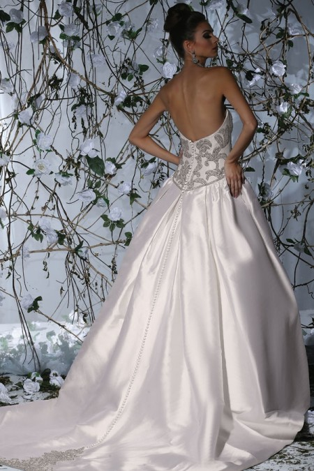 Back of VH179 Wedding Dress - Victor Harper Spring 2015 Bridal Collection