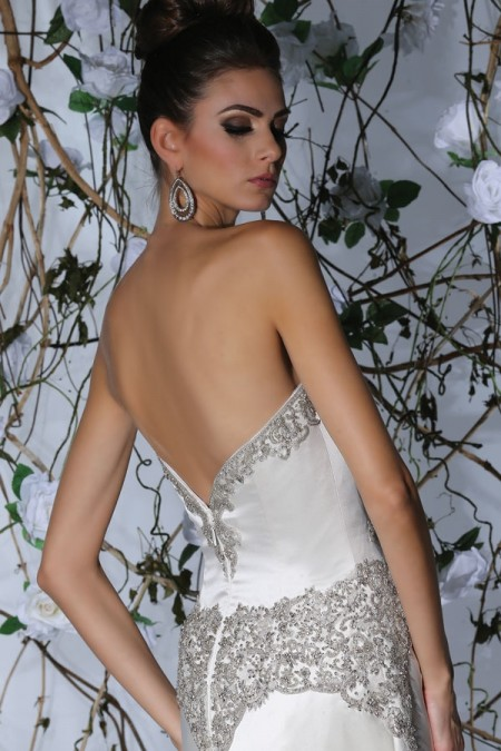 Back of VH181 Wedding Dress - Victor Harper Spring 2015 Bridal Collection