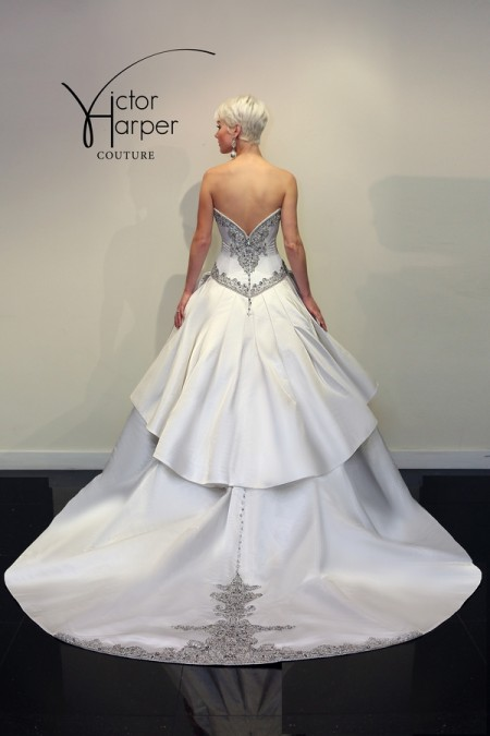 Back of VHC287 Wedding Dress - Victor Harper Couture Spring 2015 Bridal Collection