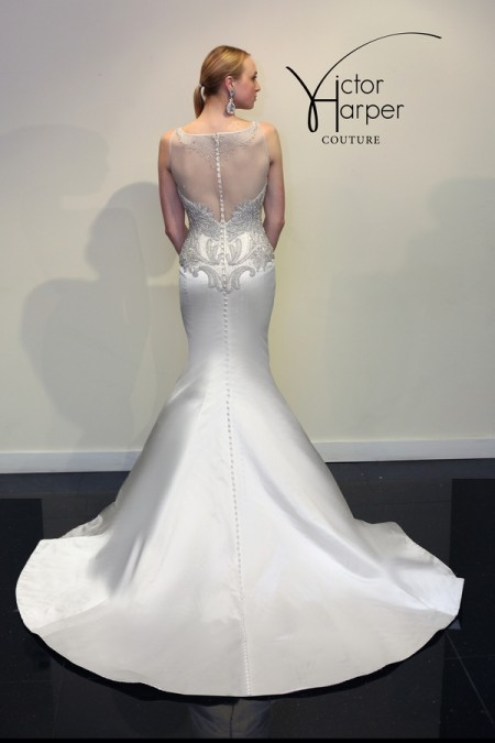 Back of VHC288 Wedding Dress - Victor Harper Couture Spring 2015 Bridal Collection