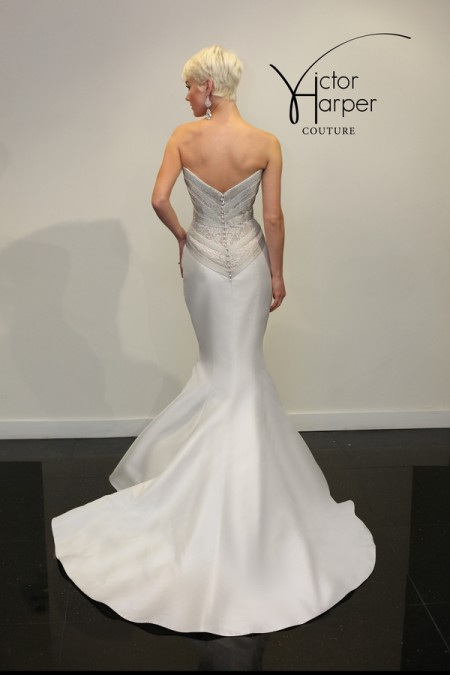 Back of VHC289 Wedding Dress - Victor Harper Couture Spring 2015 Bridal Collection