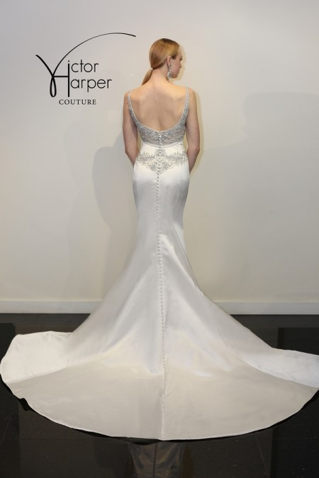 Back of VHC292 Wedding Dress - Victor Harper Couture Spring 2015 Bridal Collection