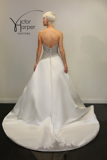 Back of VHC293 Wedding Dress - Victor Harper Couture Spring 2015 Bridal Collection