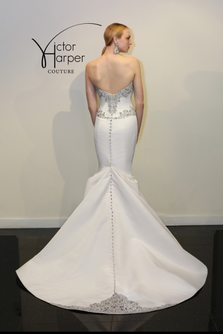 Back of VHC294 Wedding Dress - Victor Harper Couture Spring 2015 Bridal Collection