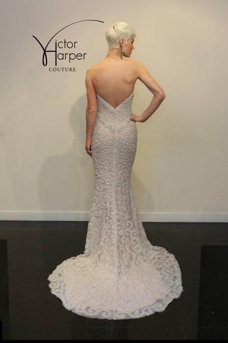 Back of VHC295 Wedding Dress - Victor Harper Couture Spring 2015 Bridal Collection