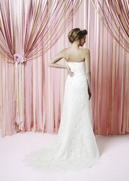 Back of Yolanda Wedding Dress - Charlotte Balbier Iscoyd Park 2015 Bridal Collection