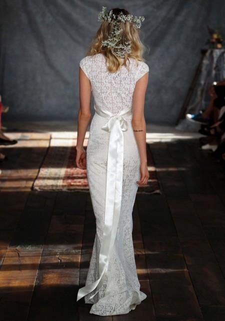 Back of Yolanda Wedding Dress - Claire Pettibone Romantique 2015 Bridal Collection